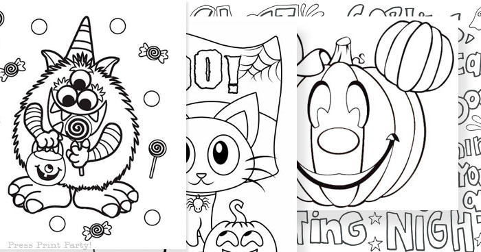 The Best FREE Printable Halloween Coloring Pages for Kids