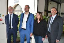 Dr. Dirk Hellrung, dir général Vorwerk Semco SAS, Emmanuel Argoud, Gaelle Nicolas et Jean-Philippe Termoz, ceo NINCAR