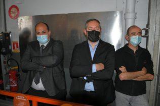 Rachid El Malki, ceo ETHIC OPEX, Jean End, resp projets industriels ETHIC OPEX, lors de la célébration de la signature du contrat Bourgeat et Vorwerk