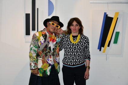 Jean-Luc Boun et Nelly Schwartz à l'expo Espoir de Vie