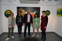 Christelle Marchal, maire de Malleval, Emma Henriot au Vernissage de exposition de 7 artistes Internationaux à la Galerie d'Art Emma