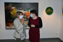 Christelle Marchal au Vernissage de exposition de 7 artistes internationaux à la Galerie d'Art Emma