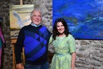 Emma Henriot et Christian au Vernissage de exposition de 7 artistes internationaux à la Galerie d'Art Emma