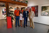 les artistes Thierry Lambert, Emma Henriot, Gregory Blin, Shahram Nabati à l'expo à la Galerie d'Art Emma