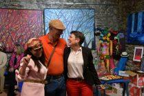 Emma Henriot, Thierry Lambert Christelle Marchal_vernissage 5 artistes peintres à la Galerie d'Art Emma