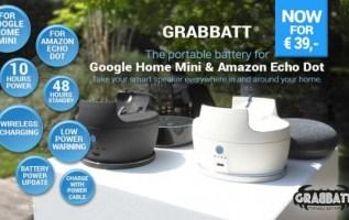Grabbatt Battery Lets Users Take Google Home Mini, Echo Dot on the Go 3