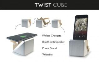 Twist Cube: 3 in 1 Twistable Speaker Debuts on Kickstarter 3