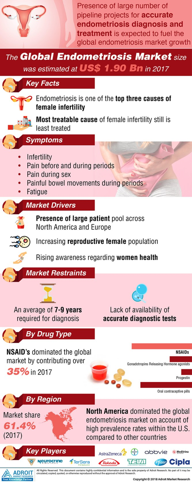 Endometriosis Market 2019 : Emerging Trends, Regional Demand, Menstrual Cycle, Risk Factors, Diagnosis & Prevention, Perceiving Growth, Business Strategies and Forecast till 2025 1