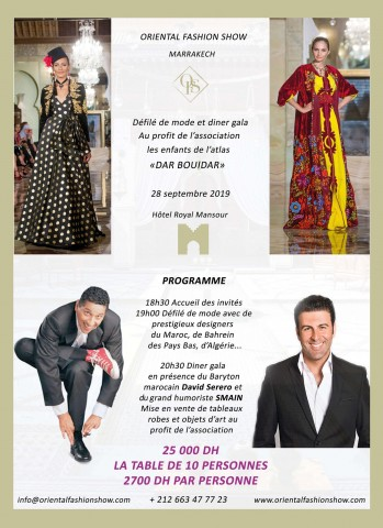 The Haute-Couture Oriental Fashion Show at the Marrakesh's Royal Mansour with opera star David Serero and humorist Smain 3
