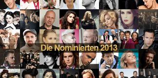Echo Verleihung nominierte Künstler 2013