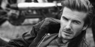 David Beckham Belstaff model image