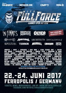 Lineup final WITH FULL FORCE FESTIVAL 2017 Ferropolis