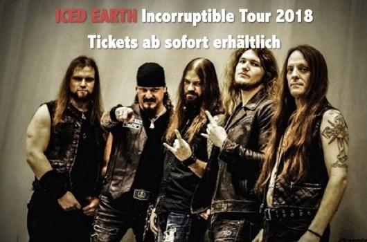 Iced Earth Tour konzertkarten Tickets Konzerte 2018