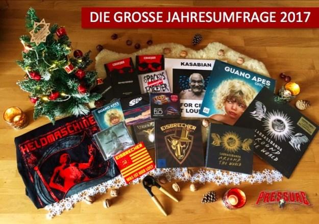 Jahresumfrage 2017 pressure-magazine.de Gewinnsoiel Verlosung Jede Menge Preise zu gewinnen