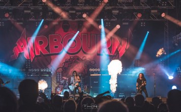 Band Airborne auf dem Rock am Stück 2019 Festival Foto: Marcus Sielaff