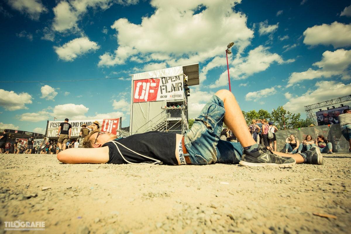 Schlafen auf dem Festival Foto vom Open Flair von Tilo Klein