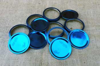 Orchard Road Purple Gingham Lids Caps For Regular Mouth Mason Jars
