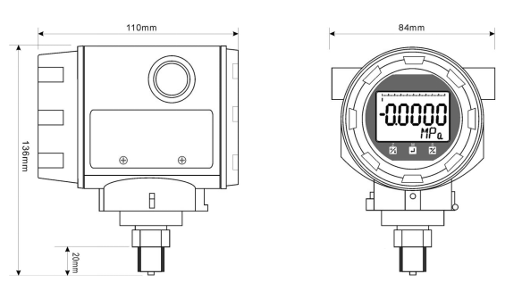 4~20ma Diffusing Silicon Filled Smart Pressure Transmitter