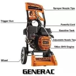 Generac 6595 2500PSI 2.3 GPM 196cc OHV Gas Pressure Washer