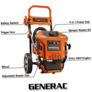 Generac 6602 OneWash 4In-1 PowerDial 3100 PSI 2.8GPM 212cc OHV Gas Powered Residential Pressure Washer Review