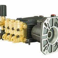"ETD Triplex Gearbox Direct Drive High Pressure Washer Plunger Pump 4.4 GPM 3600 PSI 13 HP 1560 Input RPM 1"" Hollow Shaft"