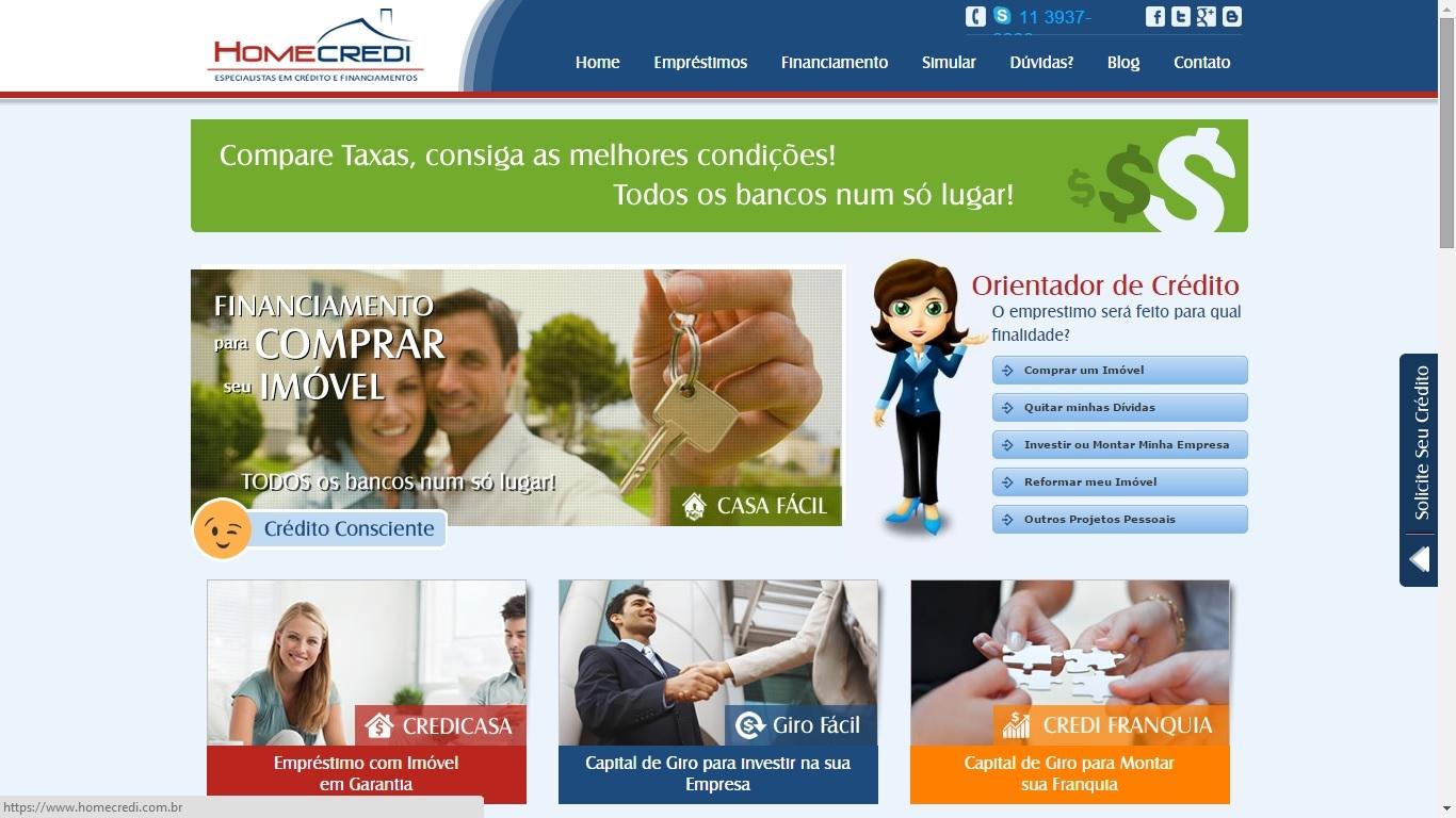 Tela HomeCredi