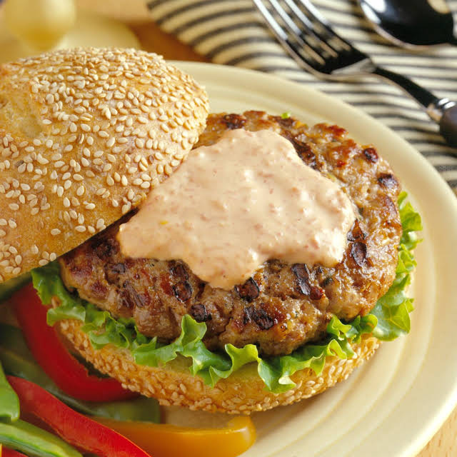 Spicy Asian Ground Pork Burger