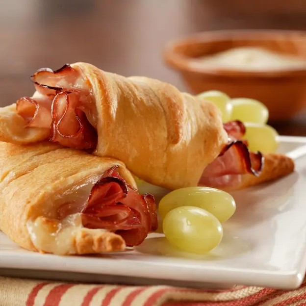 Warm Holiday Ham Crescents