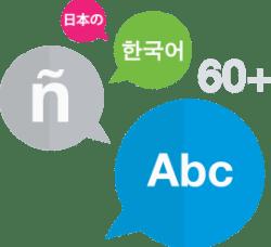 Traduci in più di 65 lingue