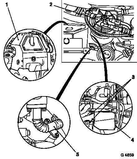 astra g starter motor location