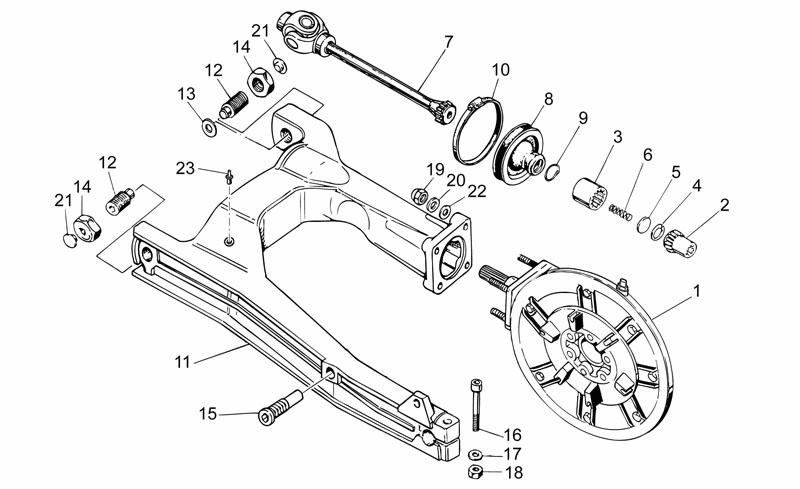 transmission moto guzzi