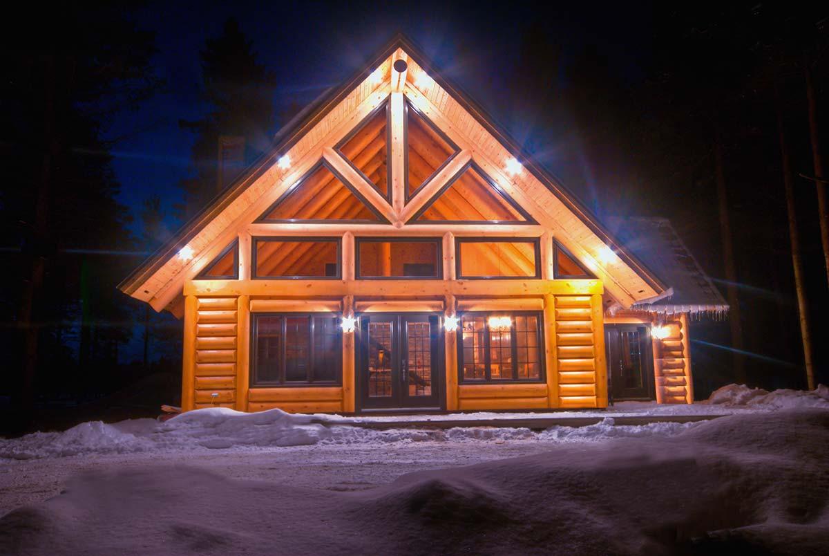 Constructeur maison bois rond quebec for Plan de maison bois rond