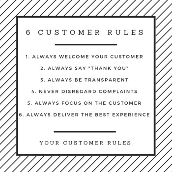 6-CUSTOMER-RULES Business Coaching And Business Advice