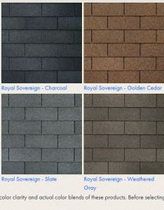 Gaf royal sovereign colors also shingle color choices prestige home solutions rh prestigehomesolutions