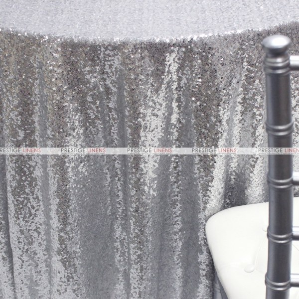 Glitz Aisle Runner - Silver Shiny Prestige Linens