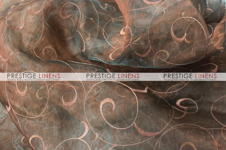 polyester chair sashes wholesale platform rocking organza swirl sash-320 jade/blush - prestige linens