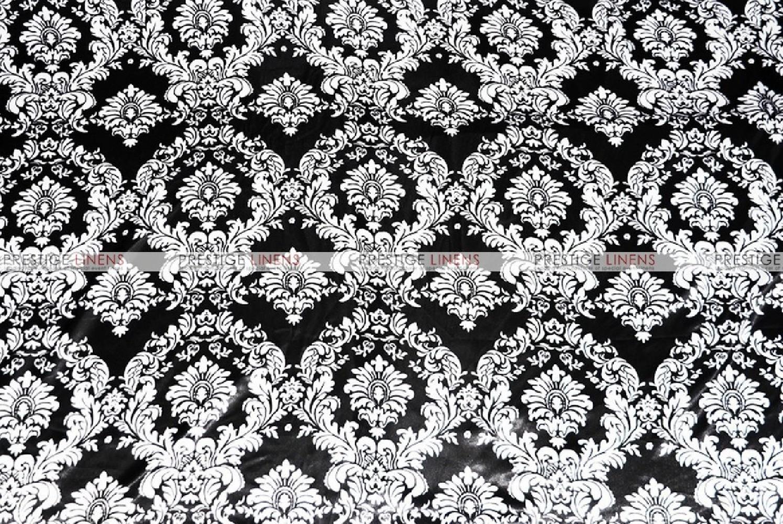 Damask Print Lamour Chair Cover  BlackWhite  Prestige
