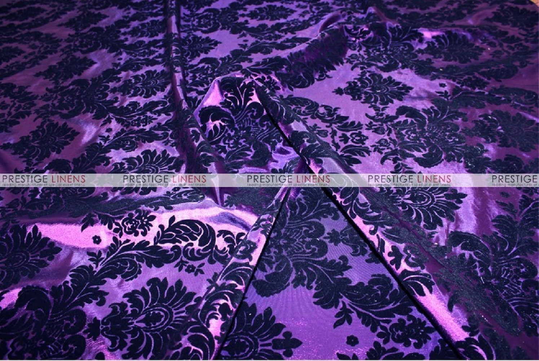 Flocking Damask Taffeta Chair Cover  PurpleBlack
