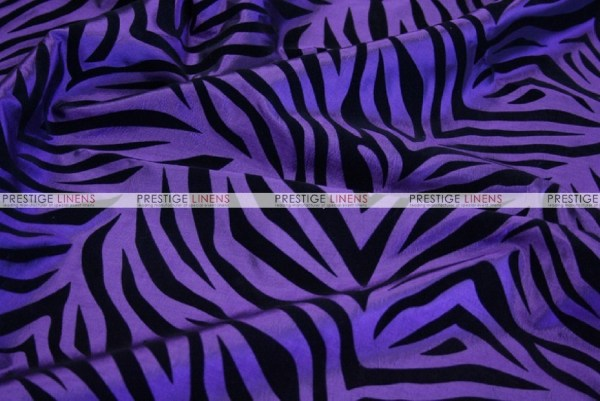 Flocking Zebra Taffeta - Fabric by the yard - Purple ...