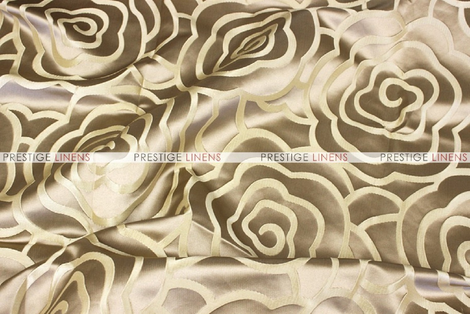 Rose Jacquard  Fabric by the yard  Gold  Prestige Linens