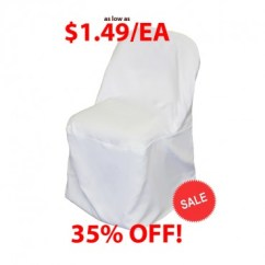 White Folding Chair Covers Tell City Chairs Pattern 4222 Polyester Cover Prestige Linens