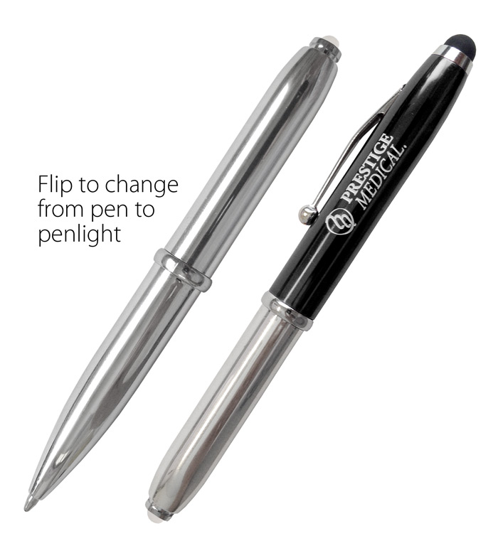 Prestige Medical 3-in-1 Utility Pen. LED Penlight, Pen