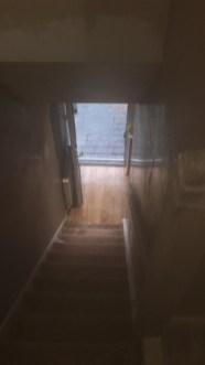 going down stairs