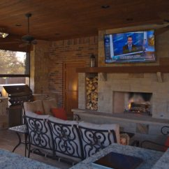 How To Design Living Room With Fireplace And Tv Scandinavian Backyard Frisco Tx | Prestige Pool Patio