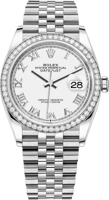 126284rbr White Roman Jubilee Rolex Datejust 36mm