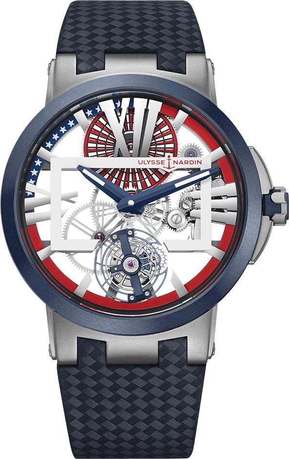 1713-139LE/US USA Limited Edition Ulysse Nardin Executive Skeleton Tourbillon 45mm Mens Watch