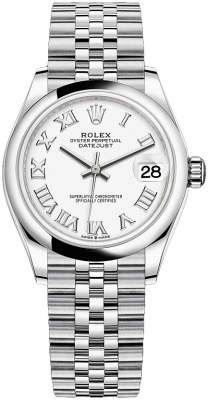 278240 White Roman Jubilee Rolex Datejust 31mm Stainless