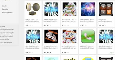 Alcune delle applicazioni per android di Pierfrancesco Panunzi per fare giochi e tricchi di magia con il telefono smartphone