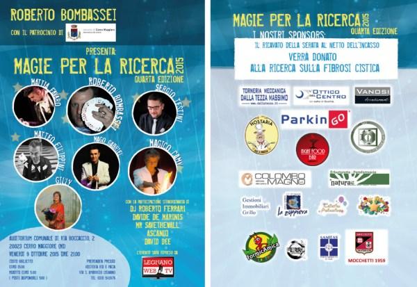VOLANTINO MAGIE PER LA RICERCA- DUE FACCE 2015