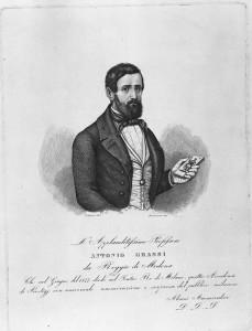 Rarissima immagine del Cavalier Antonio Grassi